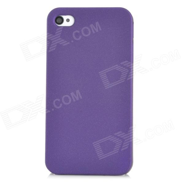 Protective Plastic Back Case for Iphone 4 / 4S - Purple protective plastic silicone back case for iphone 4 4s purple