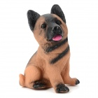 Lifelike Kunming Dog Style Vinyl Stress Reliving Squeeze Sound Toy - Brown + Black