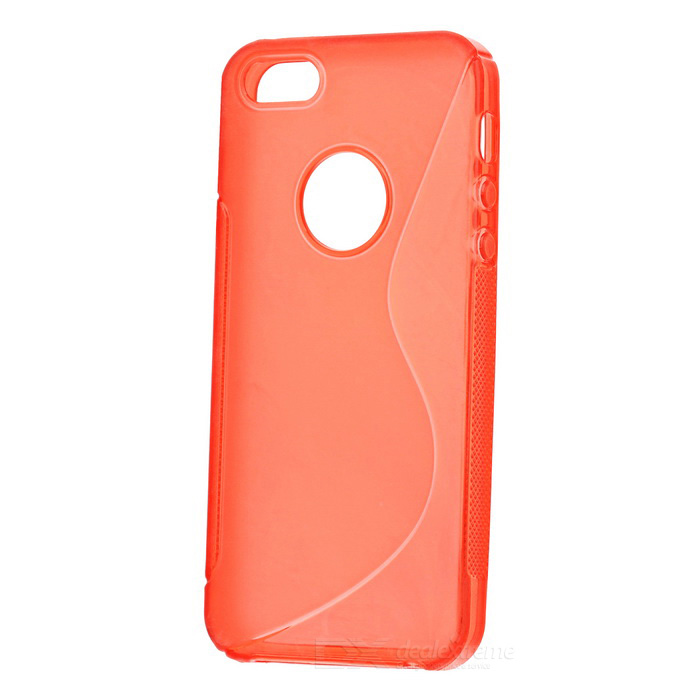 Protective TPU Back Case for Iphone 5 - Red