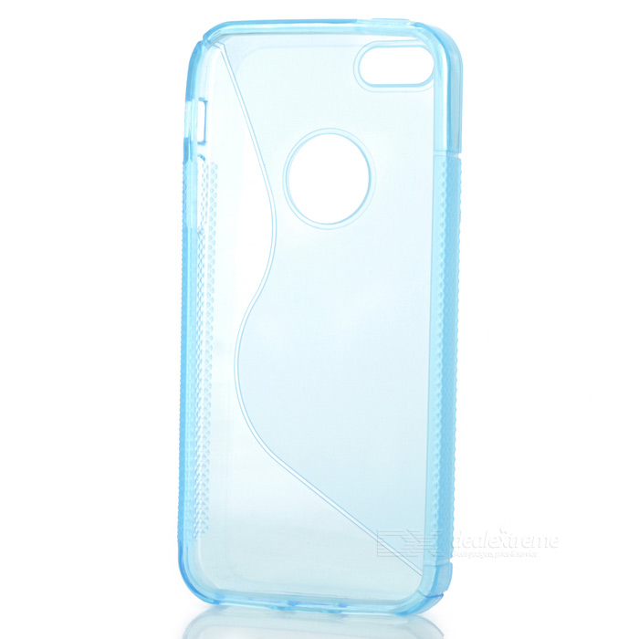 Protective Silicone Back Case for Iphone 5 - Transparent Blue