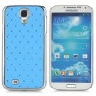 ATS868 Bling Crystal Hard Back Case for Samsung Galaxy S4 i9500 - Light Purple + Silver