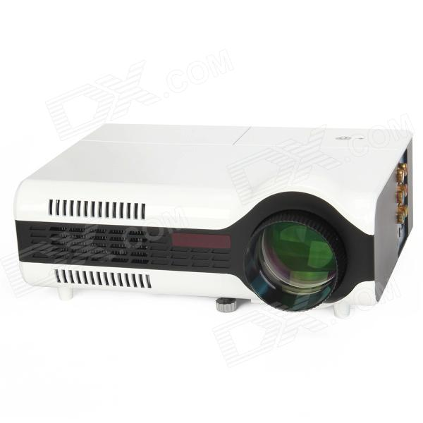 LED-2+ Personal Micro Projector w/ VGA + AV IN + HDMI + TV - White