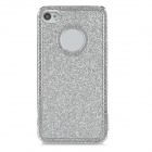 Protective Shining Glitter ABS Back Case for Iphone 4 / 4S - Silver