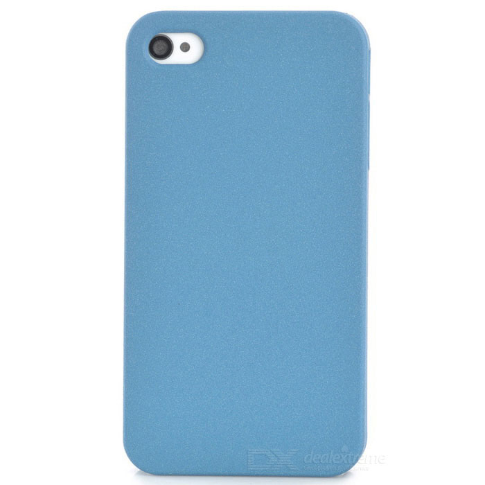 Protective Plastic Back Case for Iphone 4 / 4S - Navy Blue water drops style protective plastic back case for iphone 4 blue