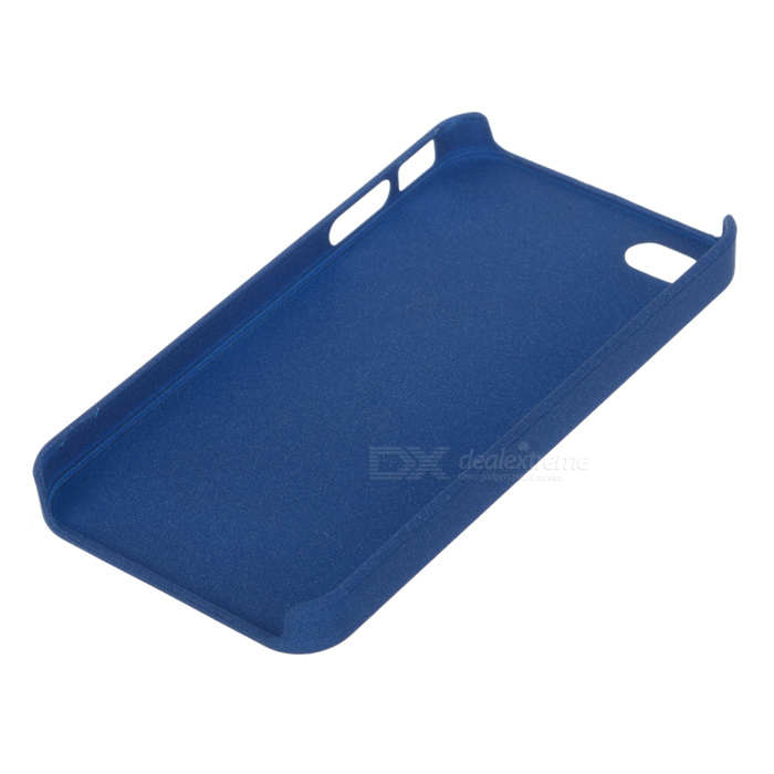 uk availability a8316 b8522 Protective Quick Sand Matt Hard Plastic Back Case for Iphone 4 / 4S - Light  Blue