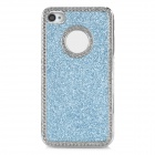 Protective Shining Glitter ABS Back Case for Iphone 4 / 4S - Silver + Blue