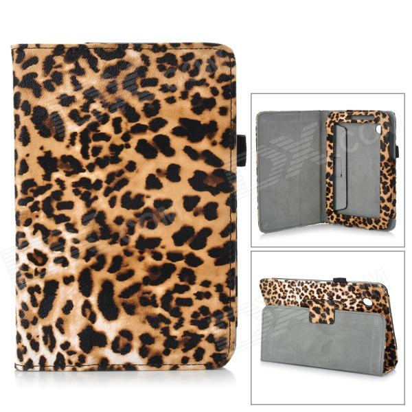 Leopard Style Protective PU Leather Case for Samsung Galaxy Tab 2 7.0 P3100 - Yellow + Black + White