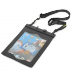 Tteoobl AP-505 TPU Waterproof Swimming / Drifting Bag w/ Earphone for Ipad 2 / 3 / 4 - Black