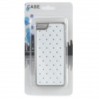 Gypsophila Pattern w/ Rhinestones Protective Plastic Back Case for Iphone 5C - White