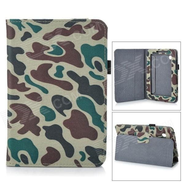 Protective PU Leather Case for Samsung Galaxy Tab 2 7.0 P3100 - Camouflage Green