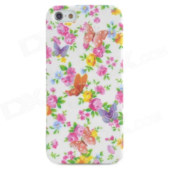 Fashion Flower Pattern TPU Back Case for Iphone 5 - Multicolored ultrathin flower pattern tpu material back case for iphone 6 4 7 inches