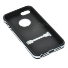 Protective TPU Back Case w/ Stand for Iphone 5 - Black