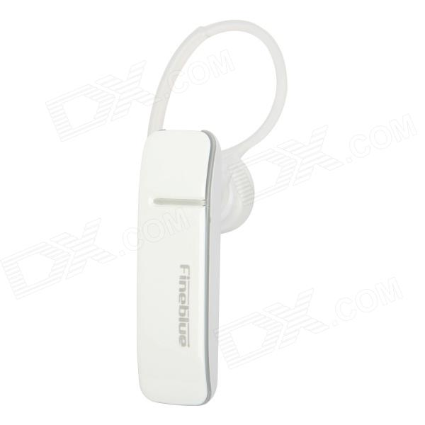 Fineblue BH150 Ear Hook Bluetooth V3.0 + EDR Stereo Headset w/ Microphone - White