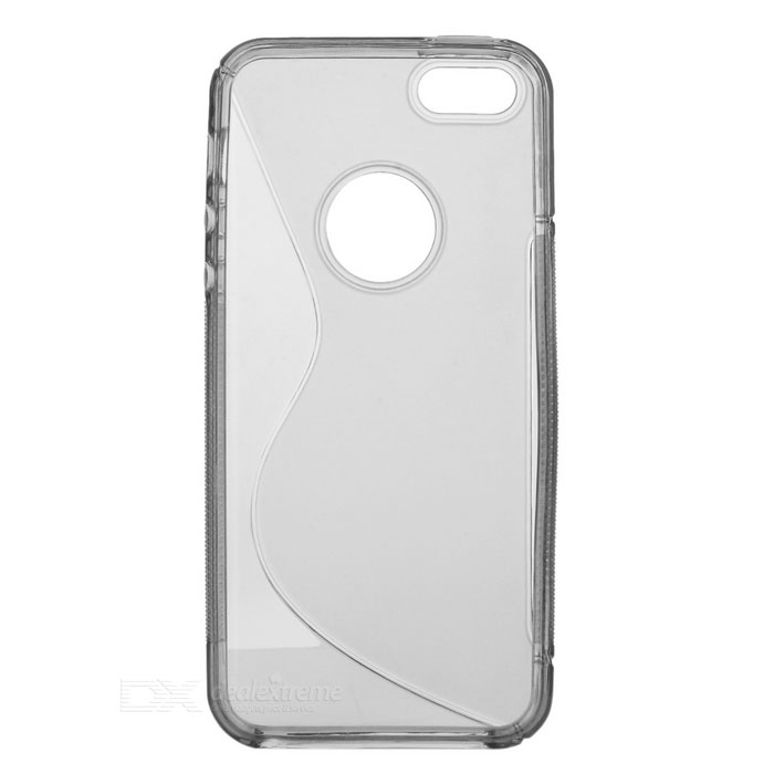 Protective S Line TPU Back Case for Iphone 5 - Translucent Black