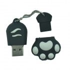 Cat Paw Style USB 2.0 Flash Disk Drive - Black + White (16GB)