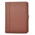 Detachable Bluetooth V3.0 84-key Keyboard PU Leather Case for Ipad 2 / 3 / 4 - Brown + Black