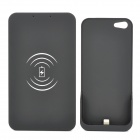 BA-34 Super Thin Qi Standard Wireless Charging Station + Back Case Set for iPhone 5 - Black + Gray