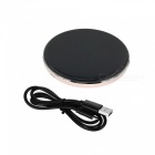 Universal Qi Standard Wireless Charging Transmitter for Cellphone - Black + White