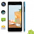 XIAOCAI X9 Quad Core Android 4.2 WCDMA Bar Phone w/ 4.5' OGS IPS Screen, Wi-Fi, GPS - Black + Blue