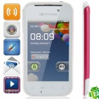 "MP-A820 MTK6515 Android 2.3.6 GSM Bar Phone w / 3.5 "", Quad-Band, TV, FM-und Wi-Fi - Deep Pink + White"