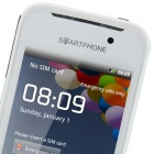 "MP-A820 MTK6515 Android 2.3.6 GSM Bar Phone w/ 3.5"", Quad-Band, TV, FM and Wi-Fi - White + Blue"