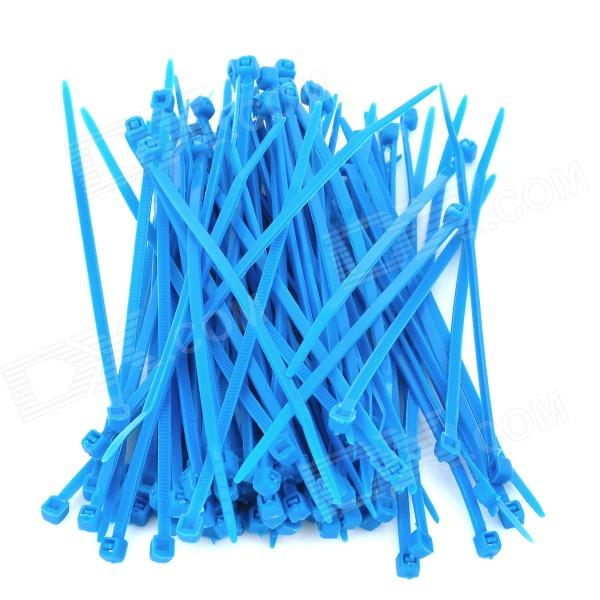 2.5 x 100mm PE Cable Ties - Blue (100 PCS)
