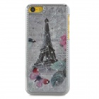 Butterfly + Eiffel Tower Pattern Protective Plastic Back Case for Iphone 5C - Multicolored