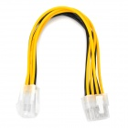 4pin to 8pin Power Extension Cable for Computer - White + Yellow + Black