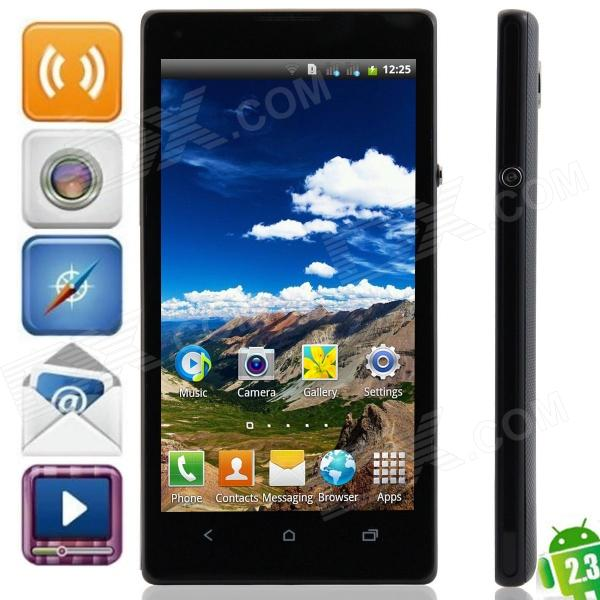 "JL35h Android 2.3.6 GSM Bar Phone w/ 4.7"", Quad-Band, FM and Wi-Fi - Black"