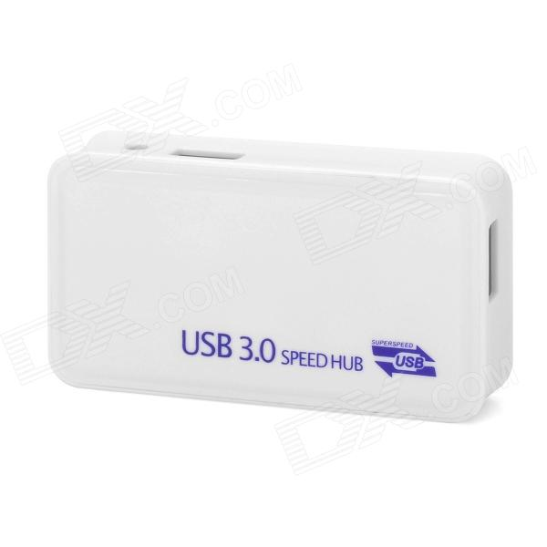 U3-4 USB 3.0 High Speed 5Gbps 4-Port Hub - White z tek zy055 usb 3 0 high speed 4 port hub white