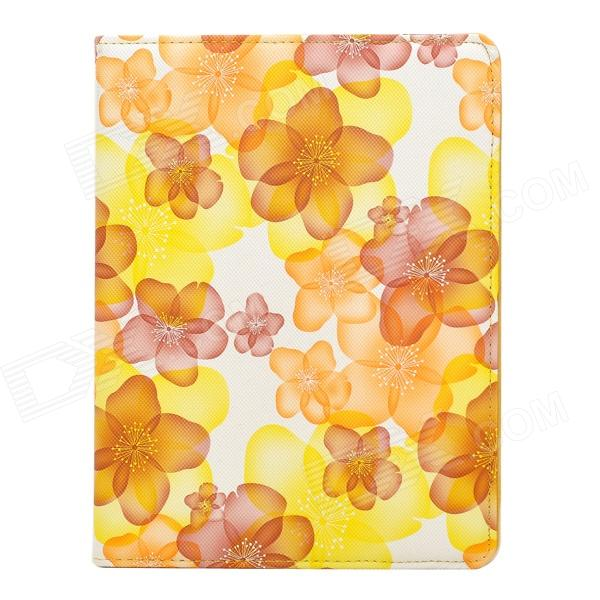 CT121100 Fashionable Floral Pattern 360' Rotate Back PU Leather Case for Ipad 2 / 3 / 4 - Multicolor ipad 4 in 1 photo lens