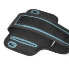 Sports Gym Neoprene Armband Case for Iphone 5C - Black + Grey