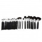 MSQ Professional 32-in-1 Cosmetic Makeup Brushes Set - Black