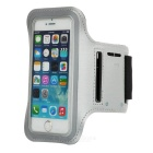 Stylish Handy Diving Fabric Arm Bag for Iphone 5C - Silver + Black