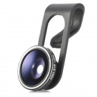 H019 Universal Clip on 180 Degree Fish Eye Lens for Cell Phone + Tablet PC - Black