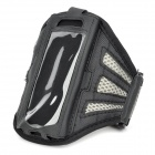 Stylish Handy Sporty Breathing Mesh Arm Bag for Iphone 5C - Black + Gray