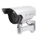 e-J RL-028 High Simulation Dummy Camera Monitor w/ LED / Solar Battery Panel - Silver + Black
