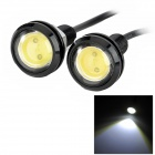 exLED 1.5W 110lm LED White Light Eagle Eyes Light for Car - (12V / Pair)