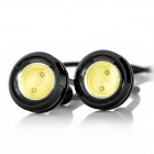 exLED 1.5W 110lm LED White Light Eagle Eyes Light for Car (12V/Pair)