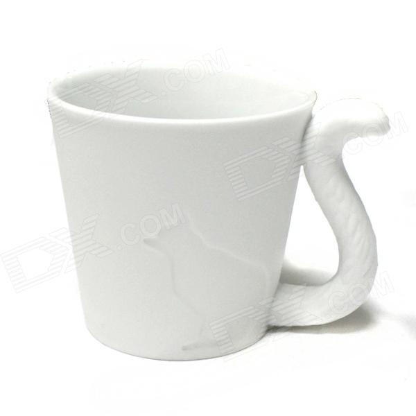Wolf Style Ceramic Cup - White (300mL)