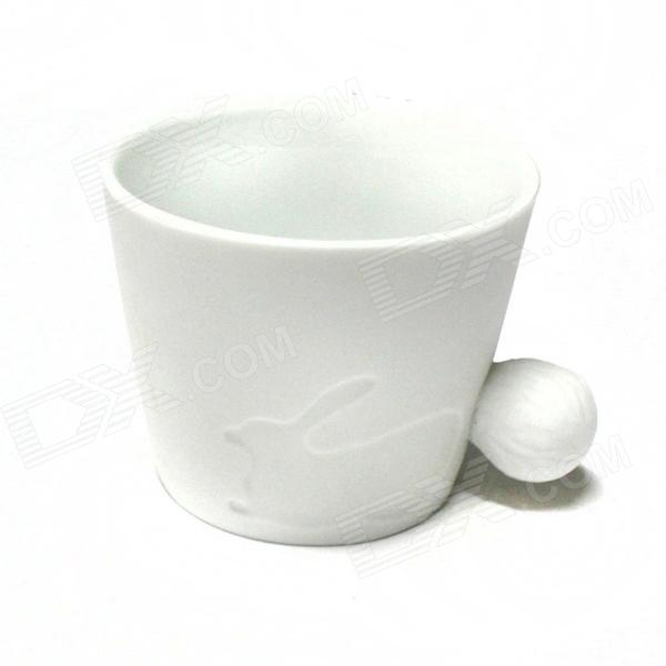Cute Rabbit Style Ceramic Cup - White (300mL)