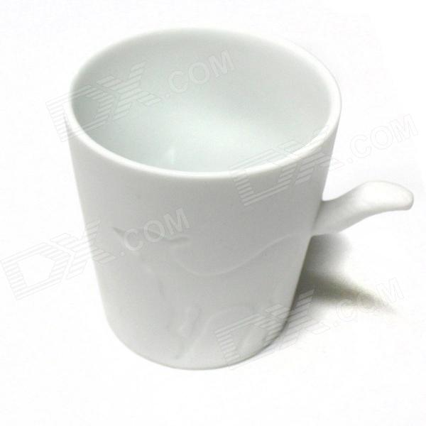 Cute Deer Style Ceramic Cup - White (300mL)