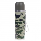 YONGQUAN YQB-S500 Stainless Steel Harness Cup - Camouflage (500mL)