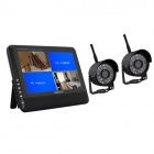 "Heacent DS02 2.4GHz Wireless 7"" TFT LCD 2-CH Digital DVR Security System - Black"