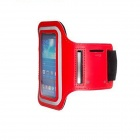 Waterproof Armband Case for Samsung Galaxy S4 Mini i9190 - Red