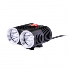 LF-17 2 x Cree XM-L T6 1200lm 3-Mode White Bike Light - Black (4 x 18650)