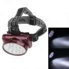 YAJIA YJ-1898 Rechargeable 13-LED 100lm 2-Mode White Light Headlamp for Hunting + More - Black + Red