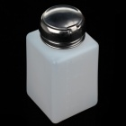 High Grade Plastic Nail Polish Remover Press Bottle - Silver Black + White (200mL)