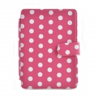 Dot Pattern Element Protective PU Leather Case for Amazon Kindle Paperwhite - Deep Pink + White