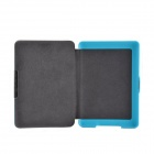Adsorption Style R64 Pattern Protective PU Leather Case for Amazon Kindle Paperwhite - Sky Blue